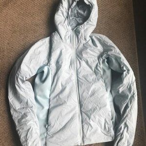 Light blue lightweight puffer from Arcteryx